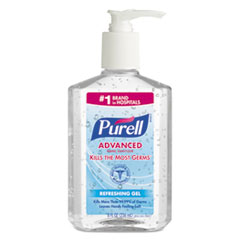 Picture of Advanced Instant Hand Sanitizer, 8oz Pump Bottle, 12/Carton