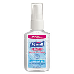 Picture of Advanced Instant Hand Sanitizer, 2oz Personal Pump Bottle, 24/Carton