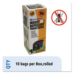 Picture of Insect-Repellent Trash Bags, 33 x 40, 1.3 mil, Black