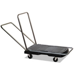 """Picture of Utility-Duty Home/Office Cart, 250 lb Capacity, 20 1/2"""" x 32 1/2"""" Platform, BK"""