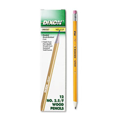 Picture of Oriole Woodcase Pencil, F #2.5, Yellow, Dozen