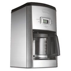 Picture of DC514T 14-Cup Drip Coffee Maker, Stainless Steel, Black/Silver