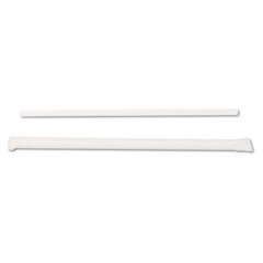 "Picture of Jumbo Straws, 7 3/4"", Plastic, Translucent, 500/Box"