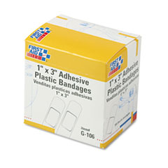 "Picture of Plastic Adhesive Bandages, 1"" x 3"", 100/Box"