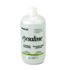 Picture of Fendall Eyesaline Eyewash Bottle Refill, 32oz Bottle, 12/Carton