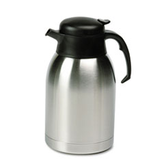 Picture of Stainless Steel Lined Vacuum Carafe, 1.9L, Satin Finish/Black Trim