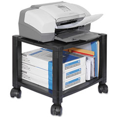 Picture of Mobile Printer Stand, Two-Shelf, 17w x 13-1/4d x 14-1/8h, Black