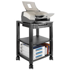 Picture of Mobile Printer Stand, Three-Shelf, 17w x 13-1/4d x 24-1/4h, Black
