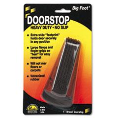 Picture of Big Foot Doorstop, No Slip Rubber Wedge, 2 1/4w x 4 3/4d x 1 1/4h, Brown