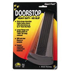 Picture of Giant Foot Doorstop, No-Slip Rubber Wedge, 3-1/2w x 6-3/4d x 2h, Brown