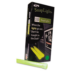 """Picture of Snaplights, 6""""l x 3/4""""w, Green, 10/Pack"""