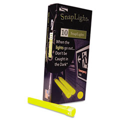 """Picture of Snaplights, 6""""l x 3/4""""w, Yellow, 10/Pack"""