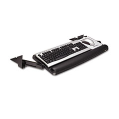 Picture of Adjustable Under Desk Keyboard Drawer, 27 3/10w x 16 8/10d, Black