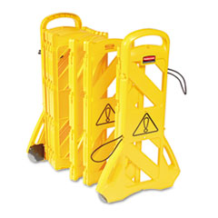 """Picture of Portable Mobile Safety Barrier, Plastic, 13ft x 40"""", Yellow"""