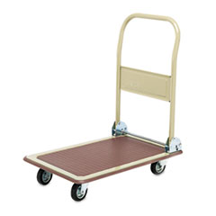 "Picture of FoldAway Platform Trucks, 700lb, 18 1/2"" x 28 1/2"" x 32"", Tropic Sand/Brown"
