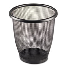 Picture of Onyx Round Mesh Wastebasket, Steel Mesh, 3qt, Black