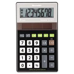 Picture of EL-R277BBK Recycled Series Handheld Calculator, 8-Digit LCD