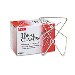 "Picture of Ideal Clamps, Metal Wire, Large, 2 5/8"", Silver, 12/Box"
