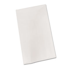 """Picture of Bio-Degradable Plastic Table Cover, 54"""" x 108"""", White, 6/Pack"""
