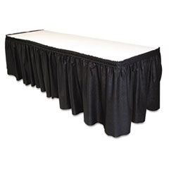 """Picture of Table Set Linen-Like Table Skirting, 29"""" x 14ft, Black"""
