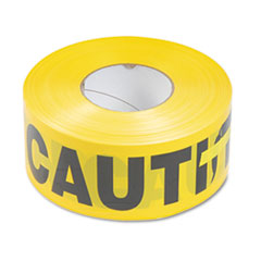 Picture of Caution Barricade Safety Tape, Yellow, 3w x 1000ft Roll