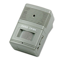 Picture of Visitor Arrival/Departure Chime, Battery Operated, 2-3/4w x 2d x 4-1/4h, Gray