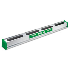 "Picture of Hold Up Aluminum Tool Rack, 36"", Aluminum/Green"