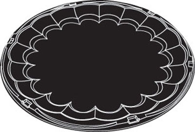 """Picture of 16"""" Black Plastic Flat Tray"""
