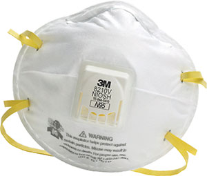 Picture of 3M Particulate Respirator 8210V, N95 with 3M Cool Flow Valve