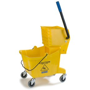 Picture of Mop Bucket W/Wringer Combo, 26-Qt, Non-Marking Casters