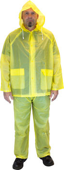 Picture of Rain Suit, 3 Piece, Small, 10  Mil, With Hood