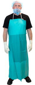 "Picture of Apron, 36""x50"", PVC, 20 Mil,  Heavy Duty, Stomach Patch"