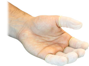 Picture of Finger Cot, Small, Latex,  Powder Free