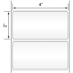 """Picture of Direct Thermal Labels, 4""""x2"""",  Perforated, Wound Out"""