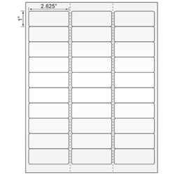 """Picture of Laser Label, 2.625""""x1"""", On  50# Liner W/Permanent Adhesive"""