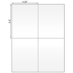 """Picture of Laser Label, 4.25""""x5.5"""", On  50# Liner W/Permanent Adhesive"""
