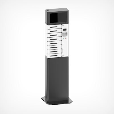Picture of Charging Locker, 8 Chamber,  With UV-C, Stand & Screen
